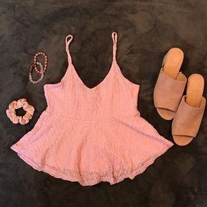 Tops - Pink peplum shirt